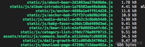 chunkhash计算出的js