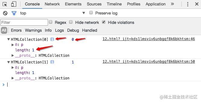 实时的HTMLCollection集合