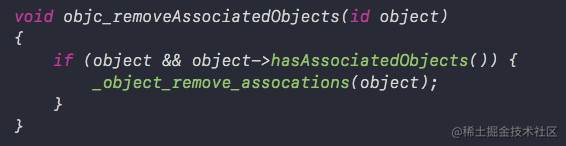 objc_removeAssociatedObjects函数
