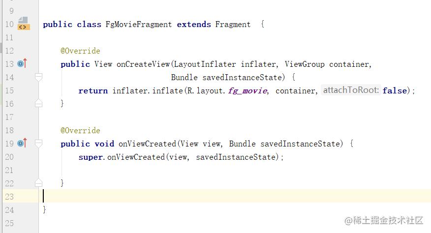 FgMovieFragment的代码,其他fragment也这么写就好了