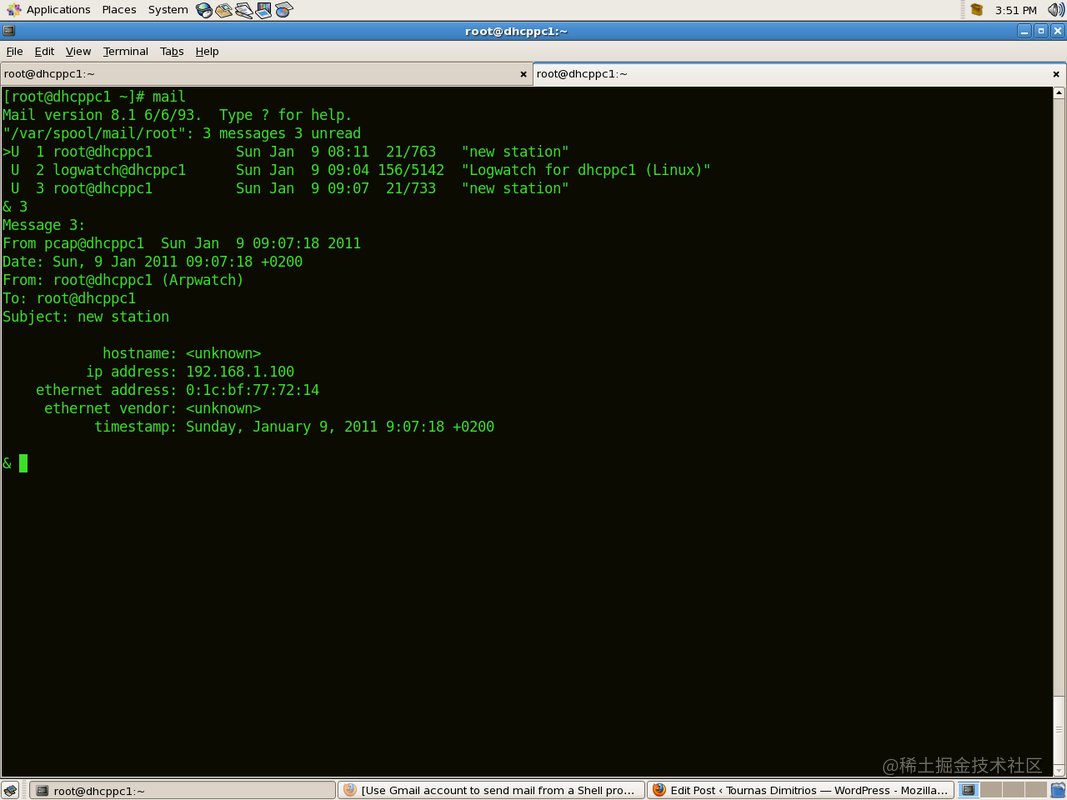 arpwatch ethernet monitoring tool