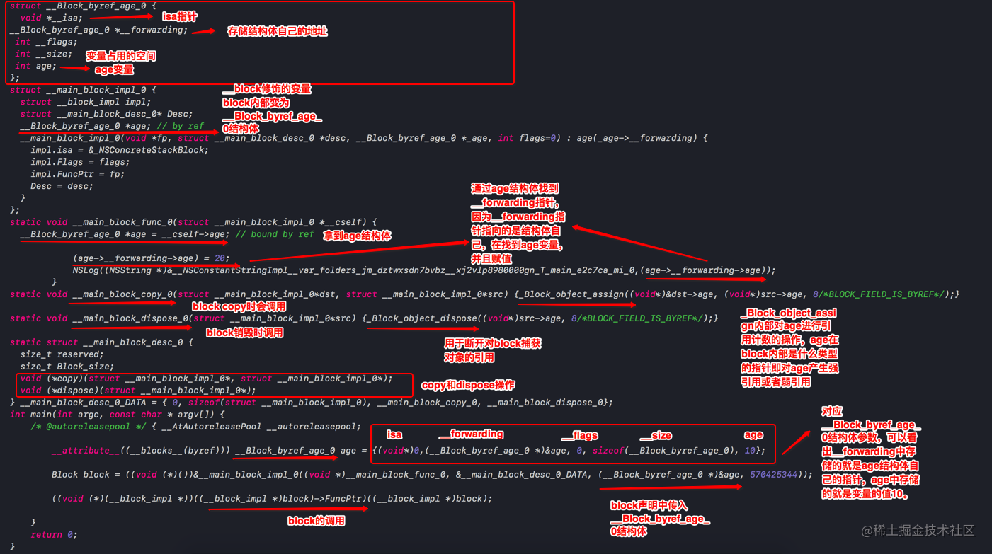 __block修饰的变量源码