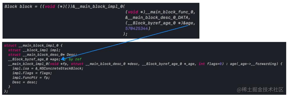 __Block_byref_age_0 *age赋值
