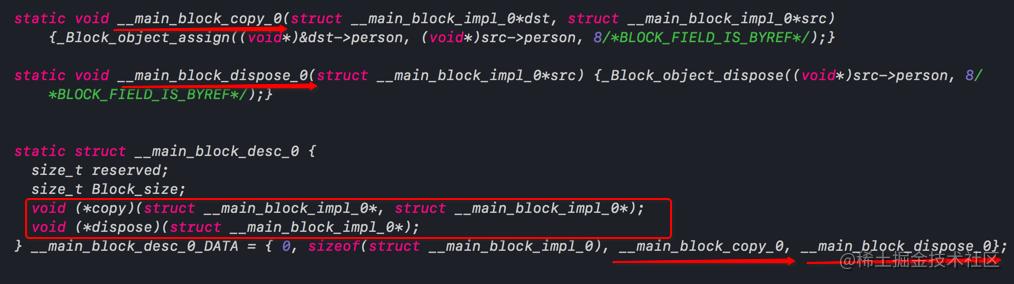 __main_block_copy_0、__main_block_dispose_0函数