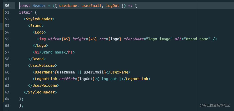 使用styled-components后的JSX