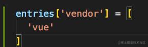 webpack入口配置中加上这一个键值对