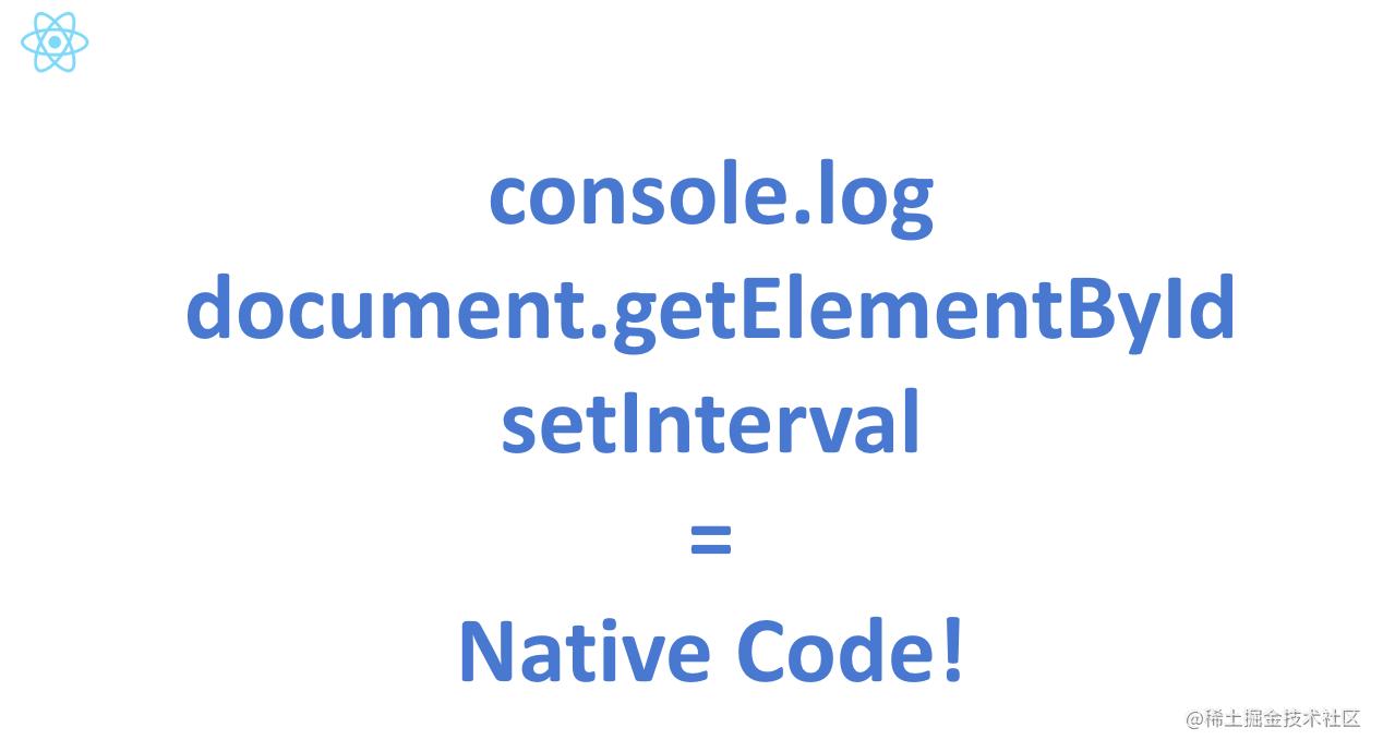 在Chrome里打开开发者界面,然后输入console.log,回车。你将看到native code