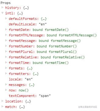 injectIntl 把 API 注入到组件的 props 中
