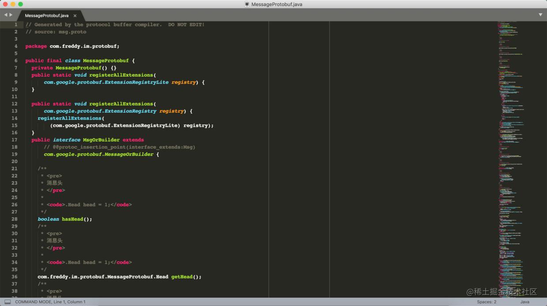打开的protobuf java类文件