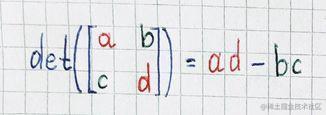 det(2×2 matrix)