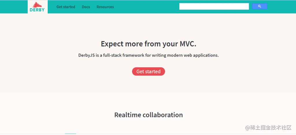 Derby 是用于编写现代 Web 应用的全栈框架