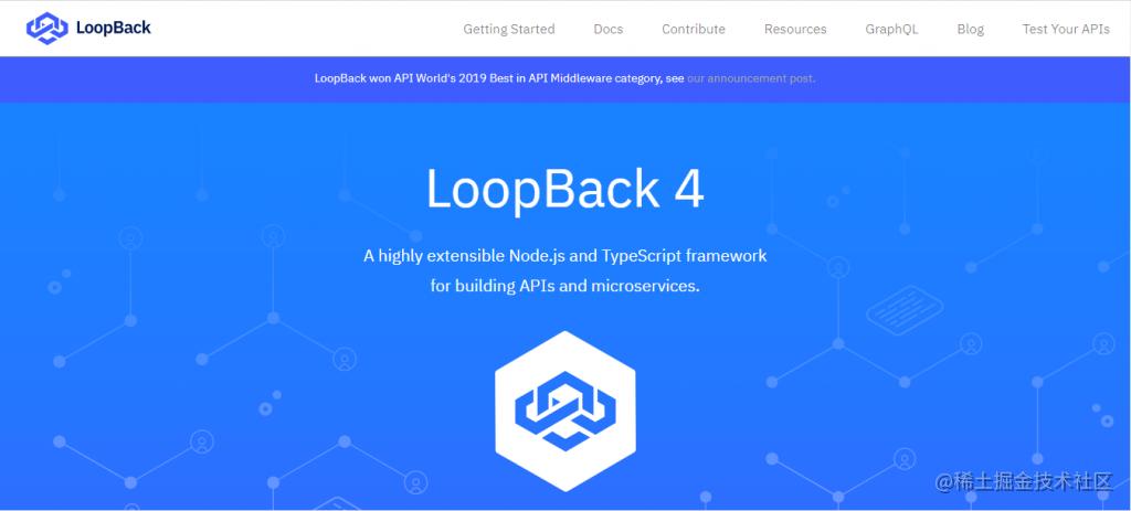 用于构建API和微服务的高度可扩展的 NodeJS 框架