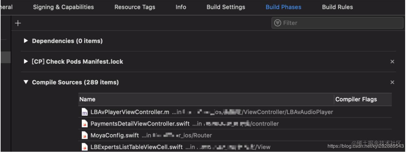 符号顺序明显是按照 Compile Sources 的文件顺序来排列
